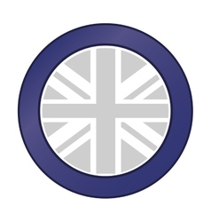 Great britain flag emblem icon vector