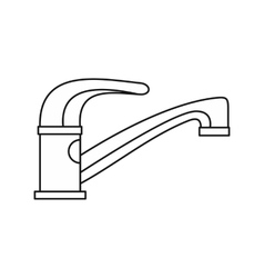 Water tap icon in outline style vector image