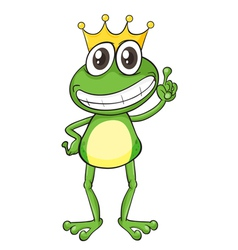 King Cartoon Frog vector image