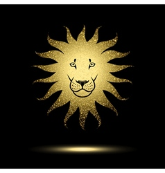 Stylized lion vector