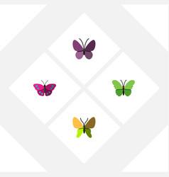 Flat monarch set of violet wing archippus vector