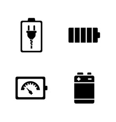 battery simple related icons vector image
