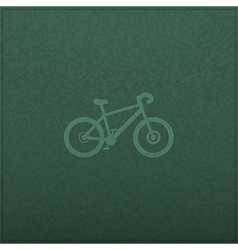 Bicycle empty realistic black board in format vector