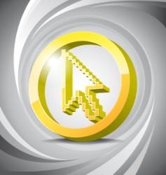 3D icon cursor vector image