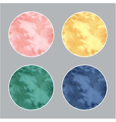 Modern 3d circle in pastel colors vector image