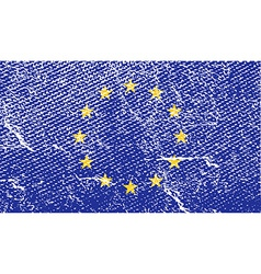 Flag of european union with old texture vector