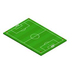 3d isometric football soccer field vector