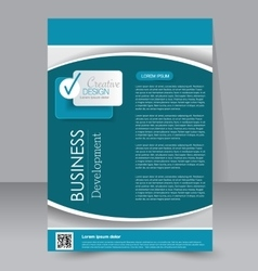 Brochure template business flyer editable a4 vector