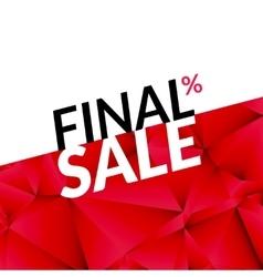 Final sale banner background promotional vector