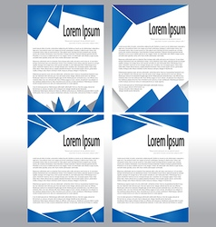Abstract document template vector