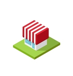 Shop isometric  3d store vector