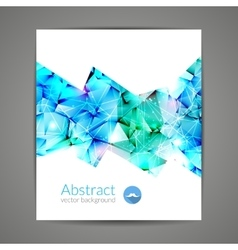 Abstract triangular 3d geometric colorful light vector