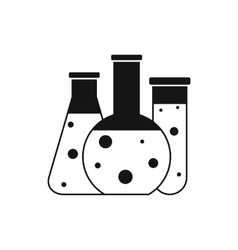 Laboratory flasks icon simple style vector