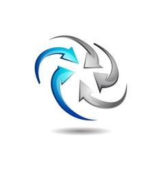 Abstract Circular Arrow Logo vector image vector image