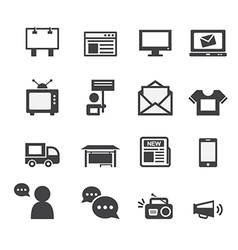 Advertisement icons set vector