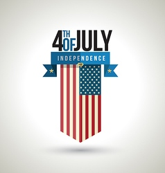 American independence day banner vector