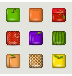 App icons fruits vector image