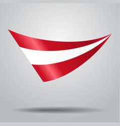 Austrian flag background vector