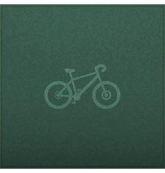 Bicycle empty realistic black board in format vector