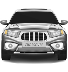 Crossover car isolated on white background vector image