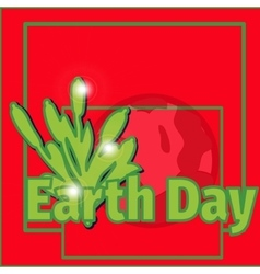 design banner poster for Earth Day vector image