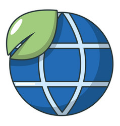 ecology earth planet globe icon cartoon style vector image vector image