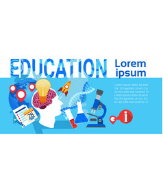 Education online learning school university vector