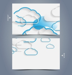 Elegant business card design template vector image
