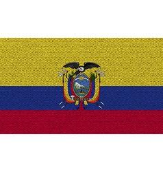 Flags Ecuador on denim texture vector image vector image