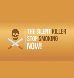 flat banner no tobacco day vector image vector image
