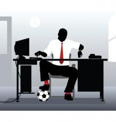 Football desk vector