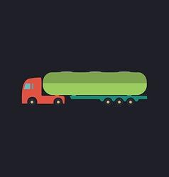 Fuel truck computer symbol vector