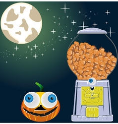 halloweennightsky vector image