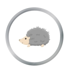Hedgehog icon cartoon singe animal icon from the vector