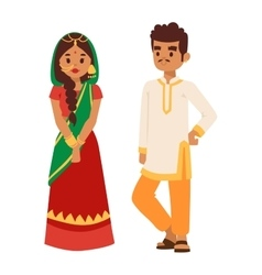 indian couple vector image vector image