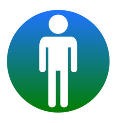 Man sign white icon in vector