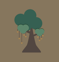 money tree on brown background vector image vector image