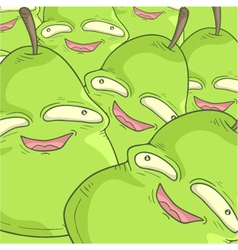 Pears faces vector