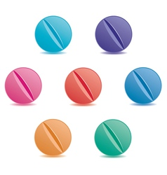 set of pills vector image