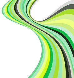 Smooth Wave Curve Lines Label vector image vector image