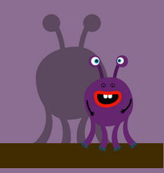 surprized monster with shadow vector image vector image