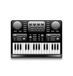 Synthesizer isolated on white vector image vector image