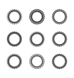 Templates round emblems vector image