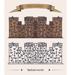 United kingdom landmark bodiam castle vector