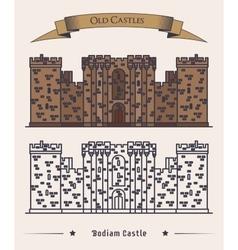 United Kingdom landmark Bodiam castle vector image