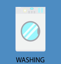 Washing machine housework vector image vector image