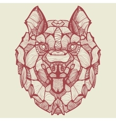 Zentangle dog husky vector