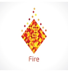 flame abstract symbol vector image