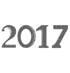 Stone numerals 2017 vector image