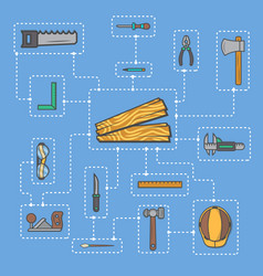 carpentry professional service infographic concept vector image